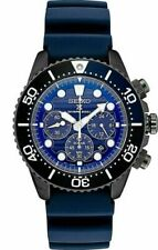 NEW Seiko SSC701 Prospex Solar Diver Blue Rubber Chronograph 43.5mm Watch