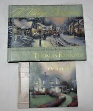 """1999 THOMAS KINKADE CHRISTMAS BOOK AND HARVEST HOUSE """"OUR GUEST"""" 1997 BOOK"""