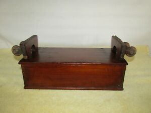 Antique Sewing Accessories Box, Wood, Primitive, Handmade
