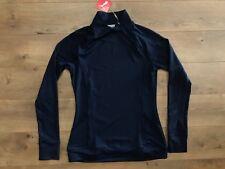 Puma Womens Brisk 1/4 Zip Pullover Long Sleeve Peacoat Navy Blue SZ S (577936)