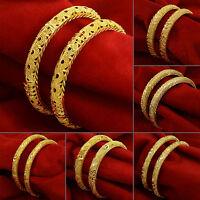 Indian Traditional Goldplated Ethnic Women Wedding Kada Bangle Set Jewelry