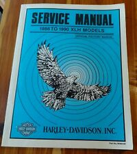 Harley-Davidson Service Manual 1986 to 1990 XLH Models. Motorcycles