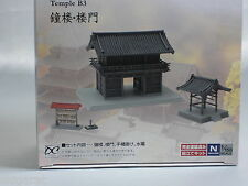 Tomytec n scale Japanese Temple 029-3 Bell tower and a Gate