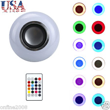 LED RGB Color Bulb Light E27 Bluetooth Control Smart Music Audio Lamps US Stock