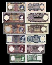 * 8. Serie 1942  - 0.25 - 100 irakische Dinar - 6 alte Banknoten Reproduktion *