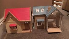 Sylvanian Families Bluebell And Orchard Cottages. Riverside Lodge Building House