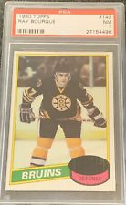 1980 1981 TOPPS Ray Bourque PSA 7 ROOKIE RC #140 Bruins NM Near Mint