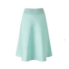 Dash Lagoon Mint Blue Linen Skirt Size UK 16 RRP £39