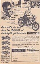 1962 TRIUMPH MOTORCYCLE - T120/R, T100S/C, T6S/R, T-20 ~ ORIGINAL SMALL PRINT AD