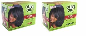ORS Olive Oil No Lye Hair Relaxer KIT Organic Root Simulator Normal Extra Strngt