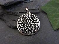 Schöner 925 Silber Anhänger Knoten Mystisch Keltisch Symbol Spirituell Vintage