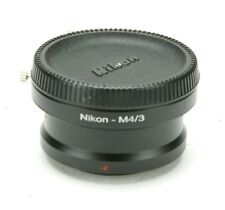 Nikon-M4/3 Manual Adapter Nikon Lens To Micro Four Thirds M43 Cameras. Ex.