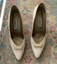 bally high heels pumps cream off white vintage us women's 9 Euc