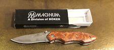 Boker Magnum Damascus Steel Folding Knife NIB