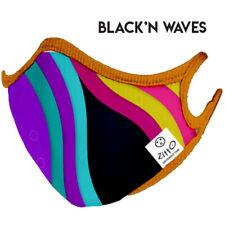 Zitto Dispositivo di Protezione Lavabile Azione Antimicrobica BLACK'N WAVES