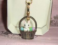 New Juicy Couture Easter Basket Charm For Bracelet, Necklace,Handbag Keychain