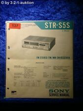 Sony Service Manual STR S5S Receiver (#0137)