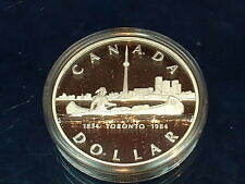 CANADA  1984  ****  PROOF CAMEO  SILVER DOLLAR   ****