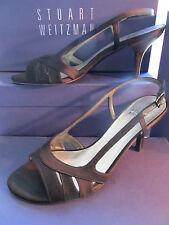 Stuart Weitzman shoe black satin size 7