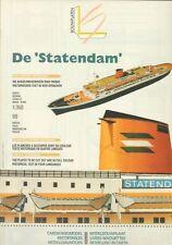 """Léon Schuijt - A 23 - Passagierschiff """"Statendam"""" - 1:350"""
