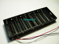 Free shipping New 12V 15V 10 X AA Battery Holder Box Case w/Wire 1#
