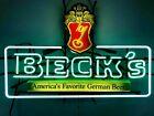 Vintage Beck's Beer American's Favorite Beer Neon Light Sign