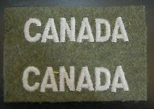 CANADA Un-Cut original WWII cloth shoulder patches