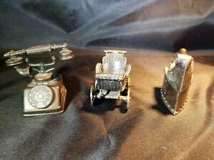 Durham Industries 1976 Miniature Dollhouse Vintage Metal Iron Baby Buggy Phone