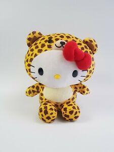Sanrio Fiesta Hello Kitty Plush Dress As Cheetah Leopard Yellow Brown Cat Plush