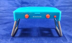 American Girl Camp Treats Set Blue Portable Grill Stove, Missing Grate