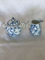 VINTAGE BLUE ONION CHILD'S SUGAR AND CREAMER SET GERMANY GREAT CONDITION