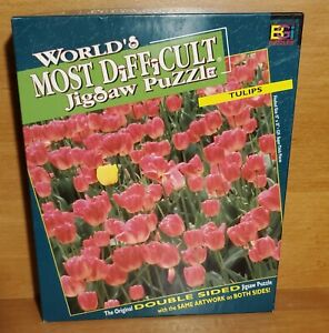 Buffalo TULIPS World's Most Difficult Jigsaw Puzzle, Double Sided, Excellent