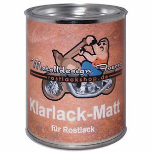 1 Liter (39,95€ / 1L) Klarlack Matt für Rostlack Ratlook