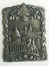 Metal fridge magnet St Petersburg Russia Church Spilled Blood St Isaacs Cathedra