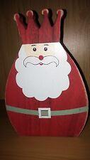 Job Lot en Gros 10 Père Noël Santa Ornement décoration en bois rrp £ 6