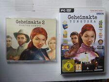 2 PC Spiel Geheimakte + Geheimakte 2