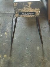 Vintage Johnson small motor engine stand boat outboard nautical decor display