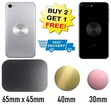 BLACK Car Metal Phone Holder Plate Self Adhesive Sticker For iPhone Samsung Case