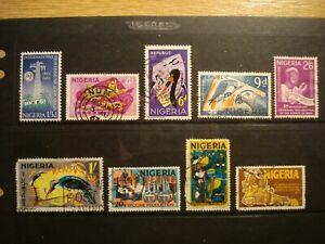 9 Used and Unused Stamps Nigeria