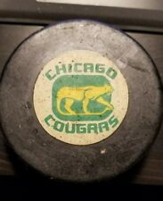 Chicago Cougars WHA Vintage 1972 Puck