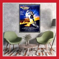 TOILE AFFICHE CINEMA SORTIE FILM POSTER PHOTO RETOUR VERS LE FUTUR 40x60 60x80