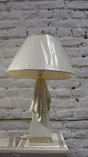 Lampe Tischleuchte Tischlampe Schreibtischlampe Stehlampe Crem Gold Optik  99108