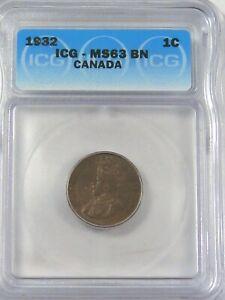 BU 1932 Penny CANADA ICG MS63 BN. #35