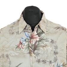 PIERRE CARDIN Rayon Hawaiian Shirt | Retro Aloha Festival Print Pattern Vintage