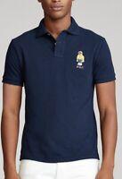 Polo Ralph Lauren Men's Custom Slim Fit CP-93 Bear Polo Shirt - Size L