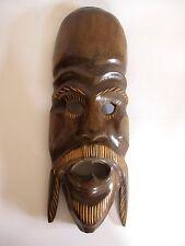 Ältere Holzmaske aus Afrika Troppenholz hand-geschnitzt 47 cm hoch