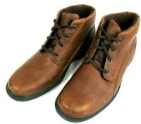 Clarks Mens 11M Casual Lace Up Desert Chukka Ankle Boots Brown Leather 13287