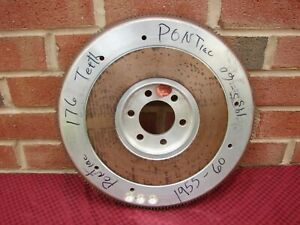55-60 287 316 B347 370 389 PONTIAC NOS SCHIEFER ALUMINUM 176 TOOTH FLYWHEEL
