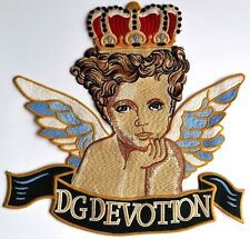 XL Cherub Angel Embroidered Jacket Patch Applique Crown Quality
