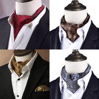 Sciarpe cravatta cravatta ascot a collo alto in seta jacquard da uomo